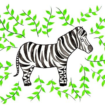 Watercolor Art | Zebra by coloringiship