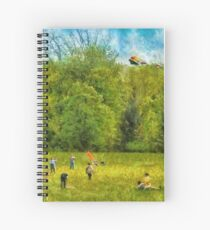 Americana - Let's go fly a kite Spiral Notebook