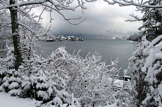 Town Walchensee - Winter Scene by Daidalos