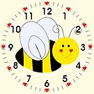 Cute Bumble Bee Hearts by ironydesigns