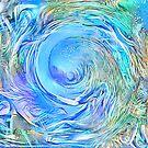 Abstract Waterfall Wave Vortex by blackhalt