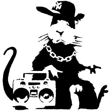 banksy - ghetto rat by streetartfans