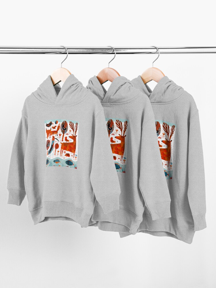 Alternate view of Forest Animals Toddler Pullover Hoodie