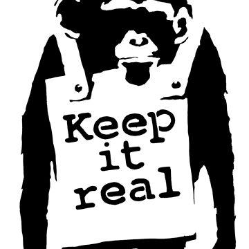 banksy - keep it real monkey by streetartfans