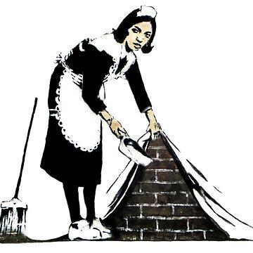 Banksy - Sweep it under the carpet N°2 by streetartfans