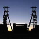 Sunset - headstocks at clipstone pit by Jodie  Davison