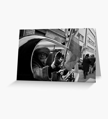 Eco Taxi Greeting Card