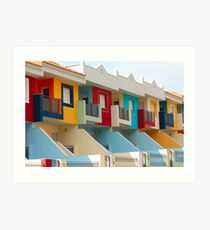 A row of new colored houses in Tenerife Art Print