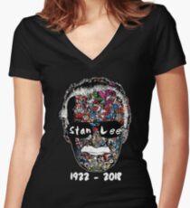 Camiseta entallada de cuello en V Stan Lee - El hombre de muchas caras