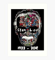 Stan Lee - Man of Many Faces Art Print