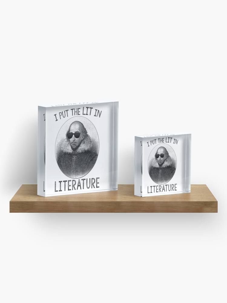 Alternate view of I Put The LIT In Literature. Acrylic Block