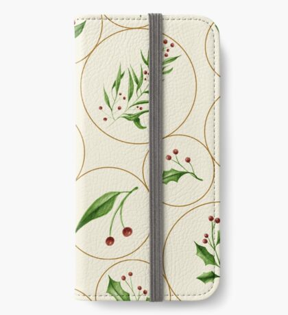Berries Baubles #redbubble #xmas iPhone Wallet