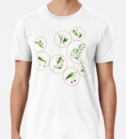 Berries Baubles #redbubble #xmas Premium T-Shirt