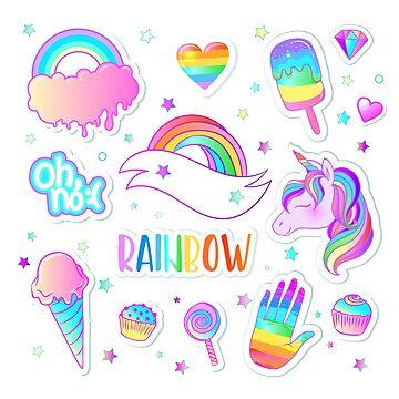Rainbow Stickers by varka