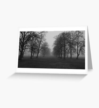 Foggy Morning Walk Greeting Card