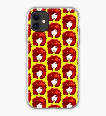 Natural Hair Autumn Fire Red Curly Hair Afro  iPhone Case
