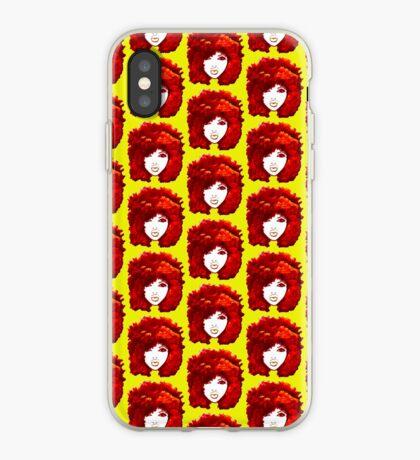Natürliches Haar-Herbst-Feuer-rotes gelocktes Haar Afro iPhone-Hülle & Cover