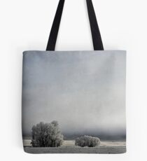 Two Trees in Frost Tote Bag