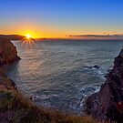 Ceibwr Bay Sunset by mlphoto