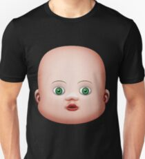 Baby Doll Head Small Eyes Unisex T-Shirt