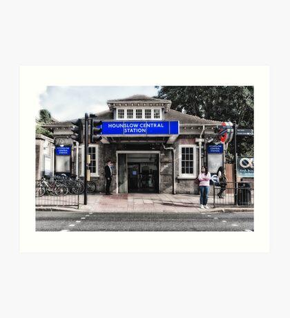 Hounslow Central Tube Station Art Print