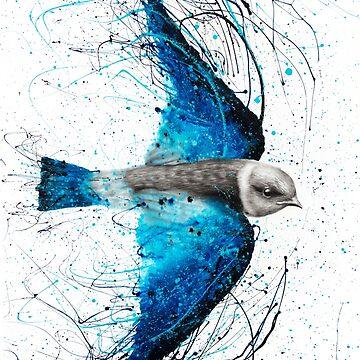 Blue Bird Listener by AshvinHarrison