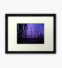 December evening. Framed Print