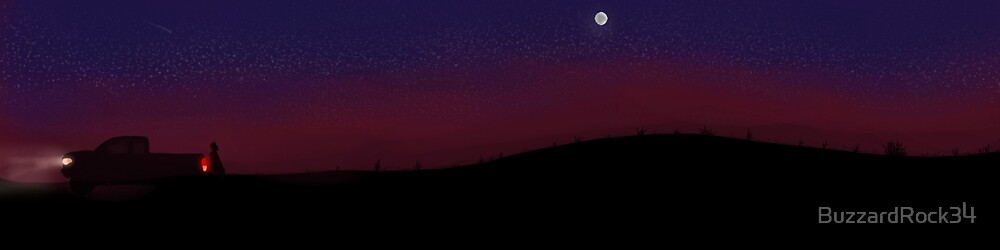 Desert Night by BuzzardRock34