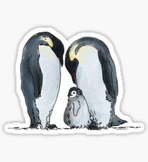 Kaiserpinguin-Familie Sticker