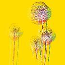 Abstrakte Sommerblumenbäume von Van Nhan Ngo