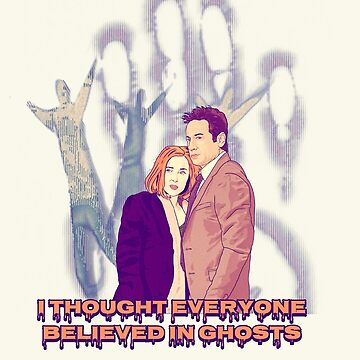 X files believe in ghosts by Mimie ( more 70 designs XFiles in my shop) by MimieTrouvetou