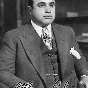 MOBSTERS, 'Scarface', Al Capone, is shown here at the Chicago Detective bureau following his arrest. by TOMSREDBUBBLE