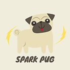 Sparky the spark pug by arrandale