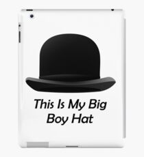 Bowler Hat Big Boy Hat Luke Crain iPad Case/Skin