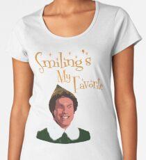 Buddy The Elf - Smiling's My Favorite Women's Premium T-Shirt