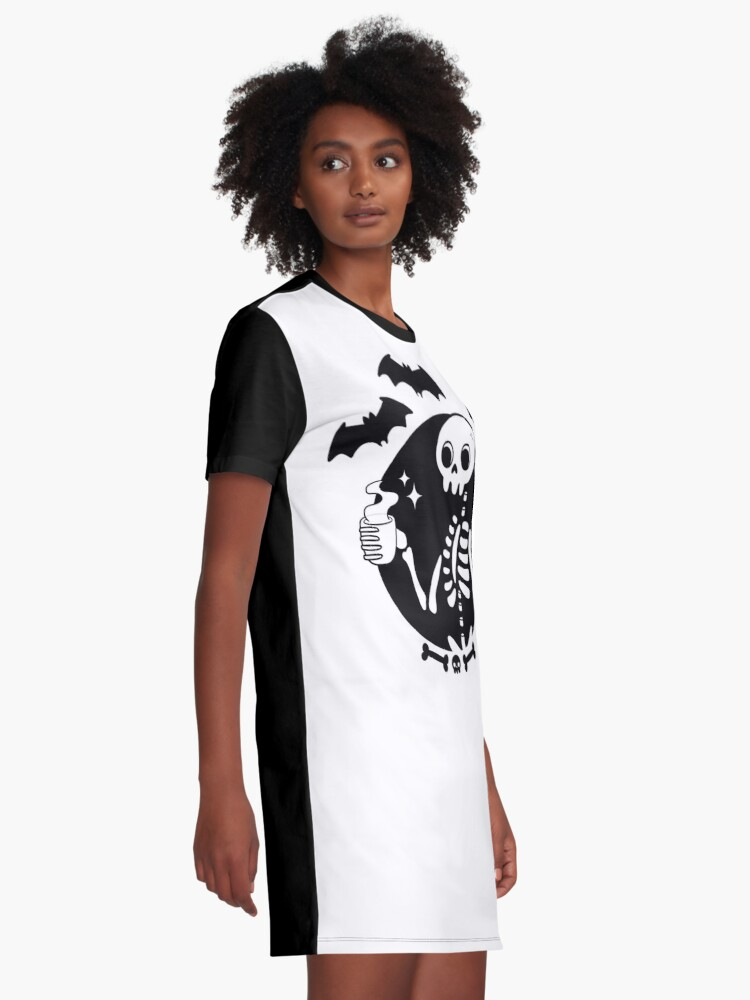 Alternate view of Death Before Decaf Graphic T-Shirt Dress
