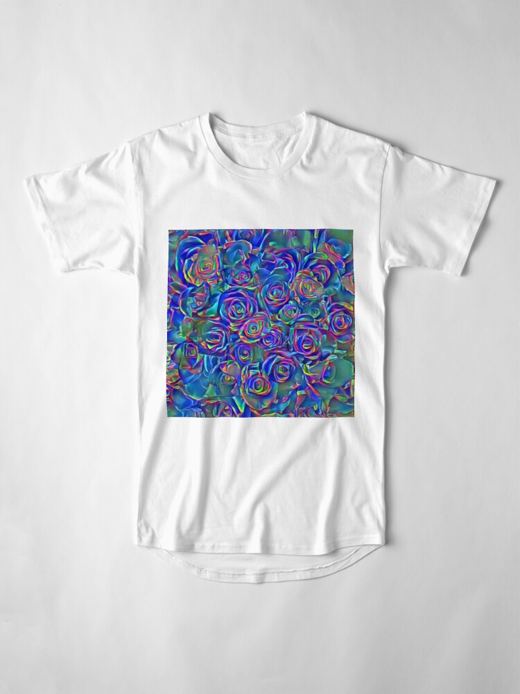 Alternate view of Roses of cosmic lights Long T-Shirt