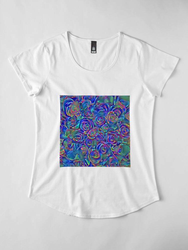 Alternate view of Roses of cosmic lights Premium Scoop T-Shirt