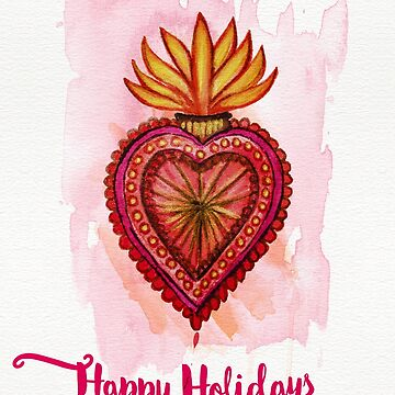 Happy Holidays (say it with a flaming heart because your love burns bright)  by MagpieMagic