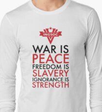 Krieg ist Frieden, Freiheit ist Sklaverei, Ignoranz ist Stärke Langarmshirt