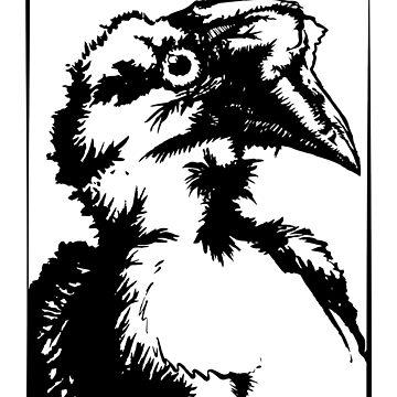 Ink Bird Portrait  by mydragonzeatyou