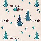 Hedgehogs in Winter by Sybille Sterk