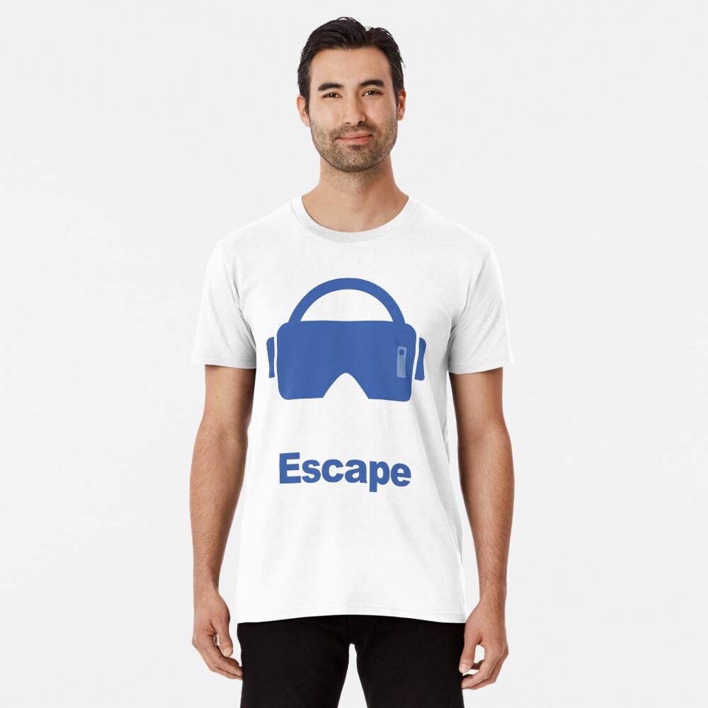 Virtual reality fantasy escape Men's Premium T-Shirt Front