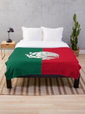 Reimagined Mexican Flag Throw Blanket