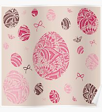 Pink Eggs Poster