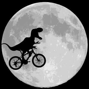 Dinosaur Bike and Moon by Boogiemonst