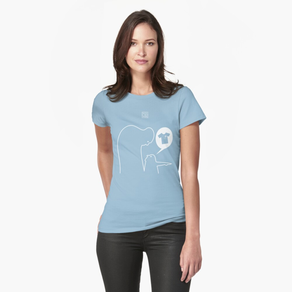 Over There! We've been featured! Womens T-Shirt Front