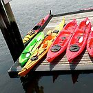 red and yellow kayaks by andytechie