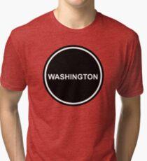 Subtle Circle - WASHINGTON - United States of America - USA Tri-blend T-Shirt