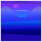 Mountain Vista in Blues and Violets by BLTV